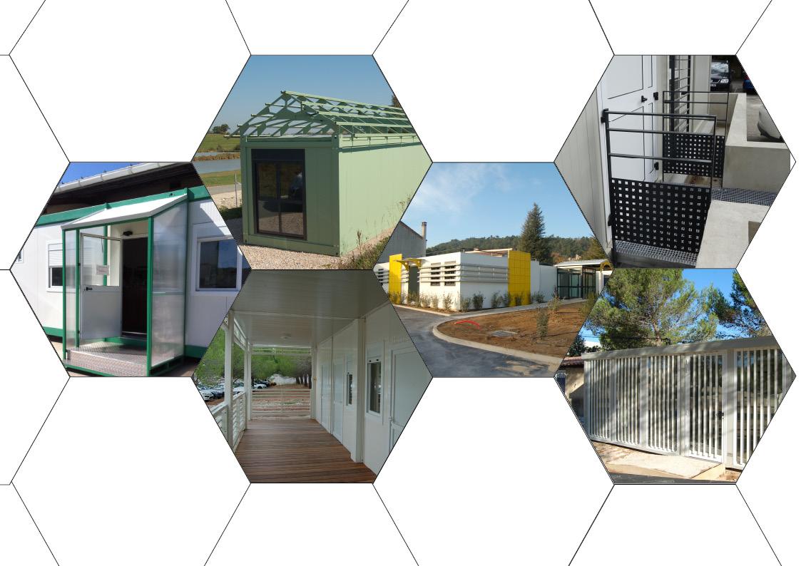 Aménagement extérieur des bâtiments modulaires